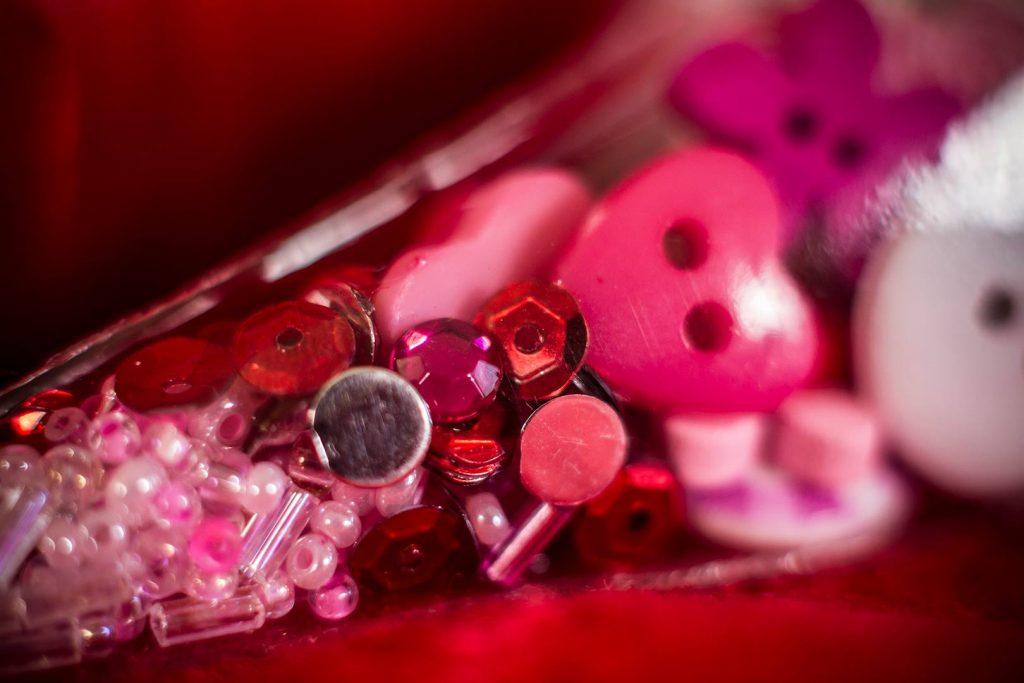 heart beads etc
