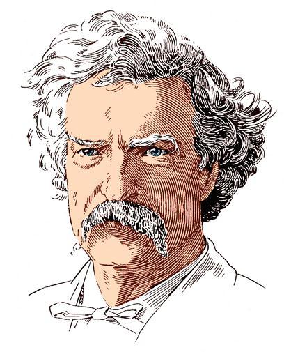 Mark Twain lino