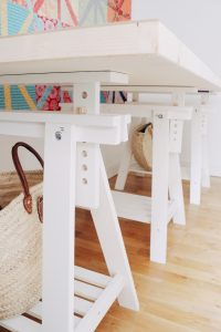 IKEA trestles allow you to get the right table height
