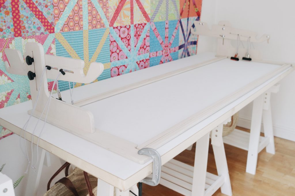 Machine Quilter frame and table