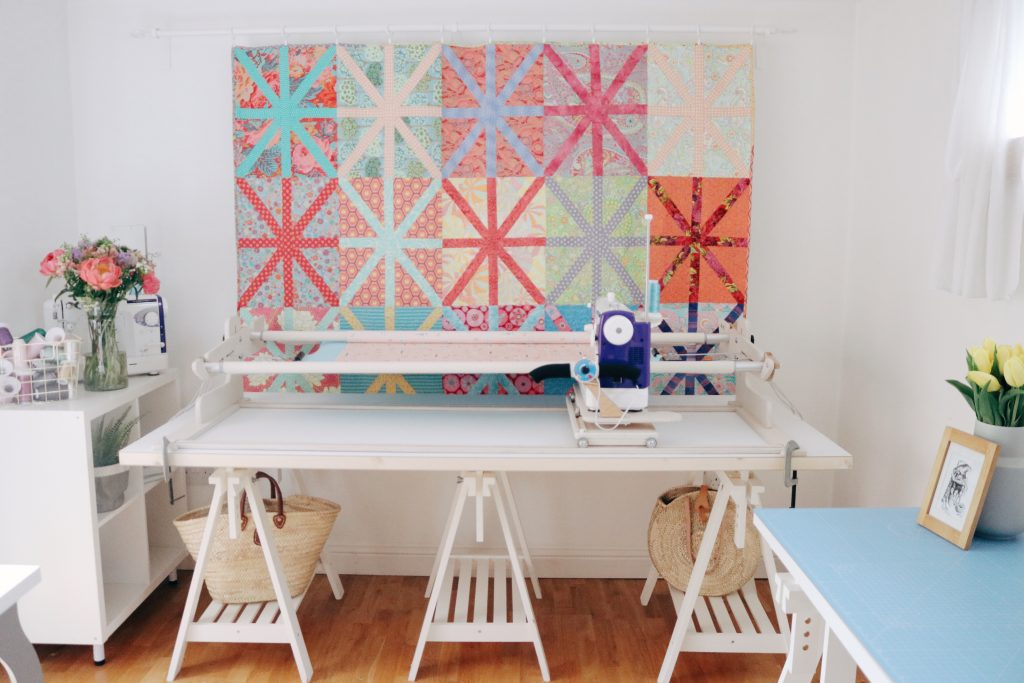 The Machine Quilter frame and table