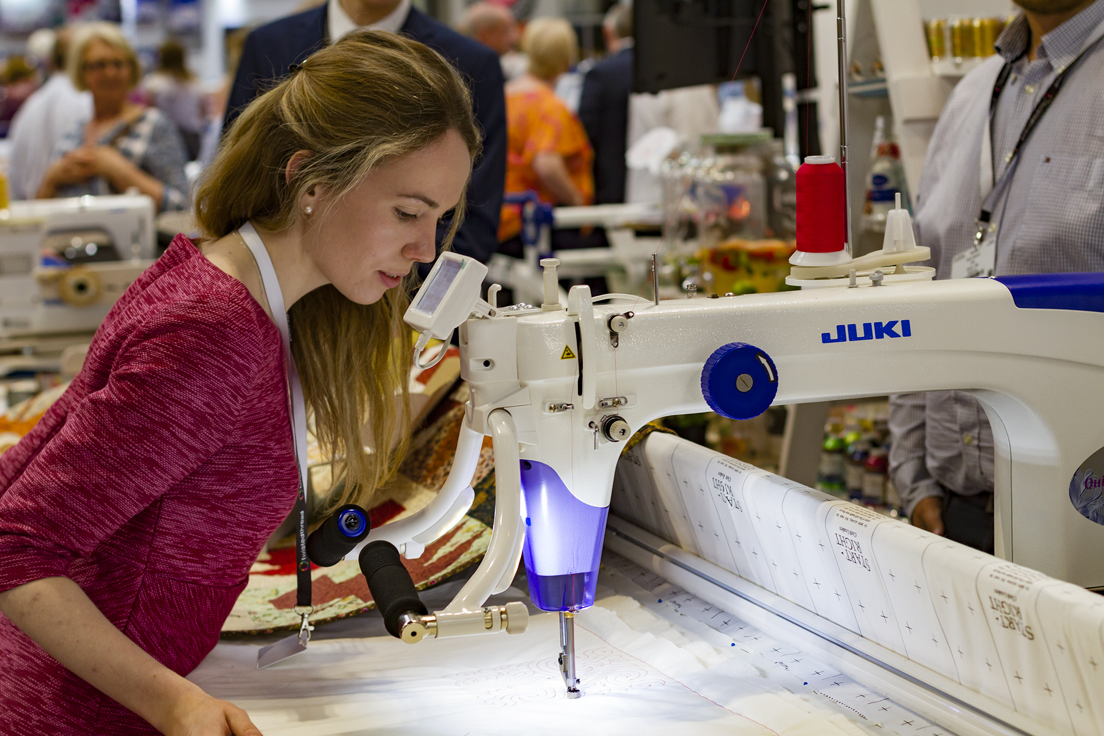 Try out the Juki Sewing Machines at the Festival of Quilts