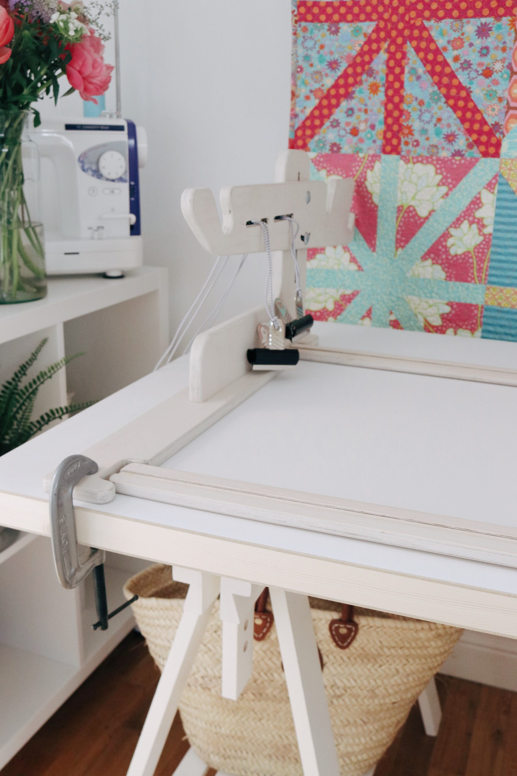 Quilting frame update makes it easy to move between frame sizes.